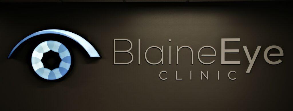 Blaine Eye Clinic Reception Sign