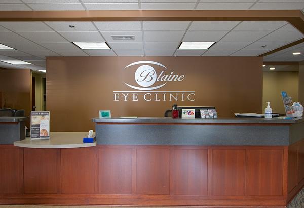 Blaine Eye Clinic Reception Desk